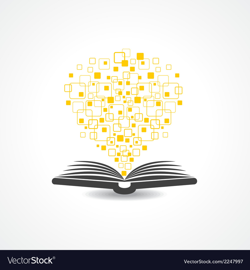Hi-tech book concept vector | Price: 1 Credit (USD $1)