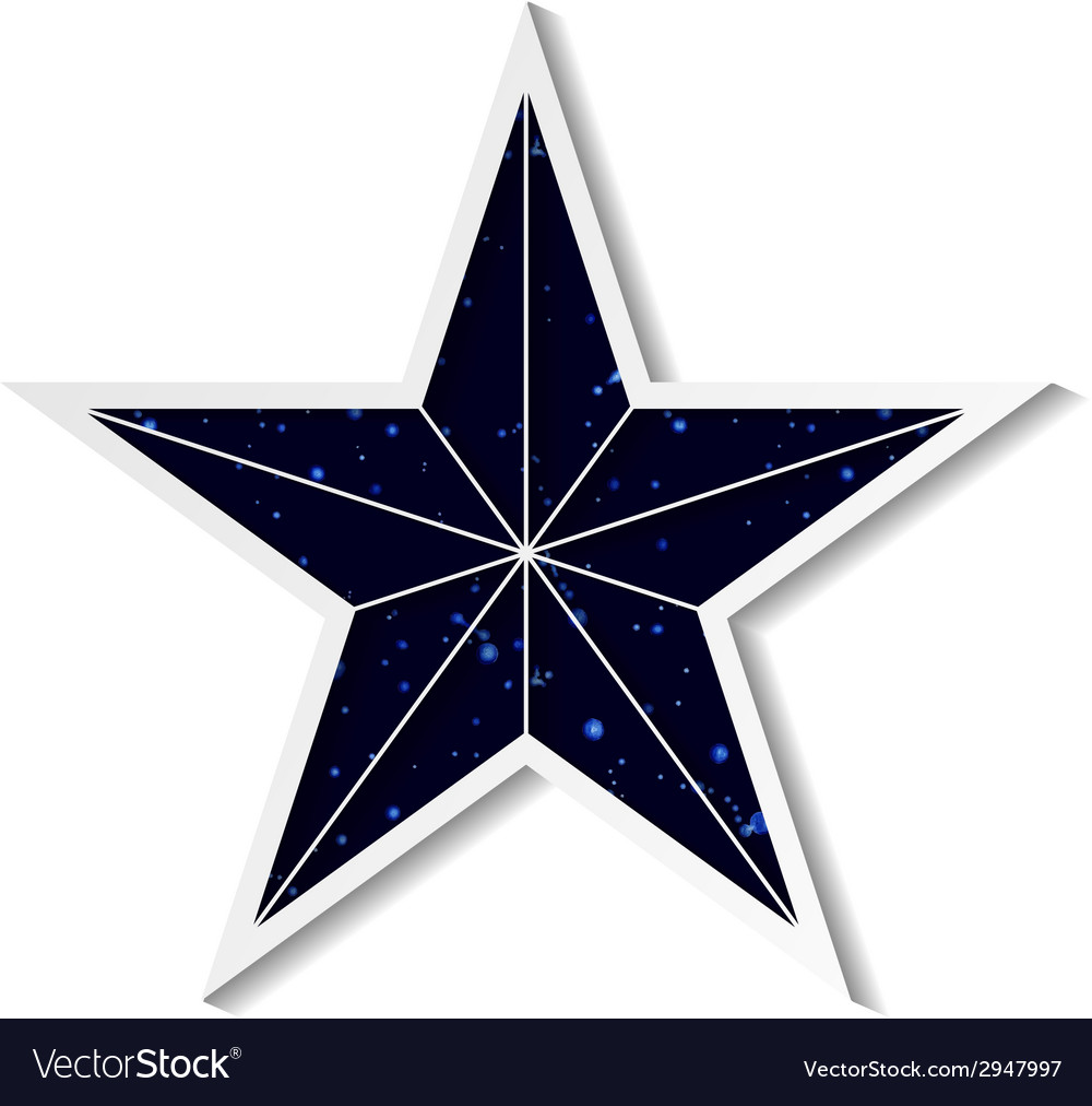 Space star vector | Price: 1 Credit (USD $1)