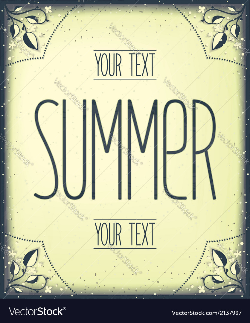 Summer greeting template vector | Price: 1 Credit (USD $1)