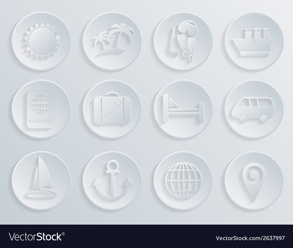 Travel icons set on white background eps10 vector | Price: 1 Credit (USD $1)