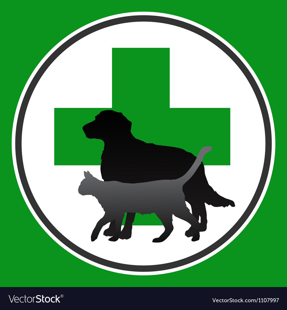 Veterinary symbol with dog and cat vector | Price: 1 Credit (USD $1)