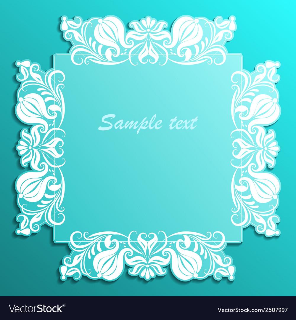 Vintage paper frame vector | Price: 1 Credit (USD $1)