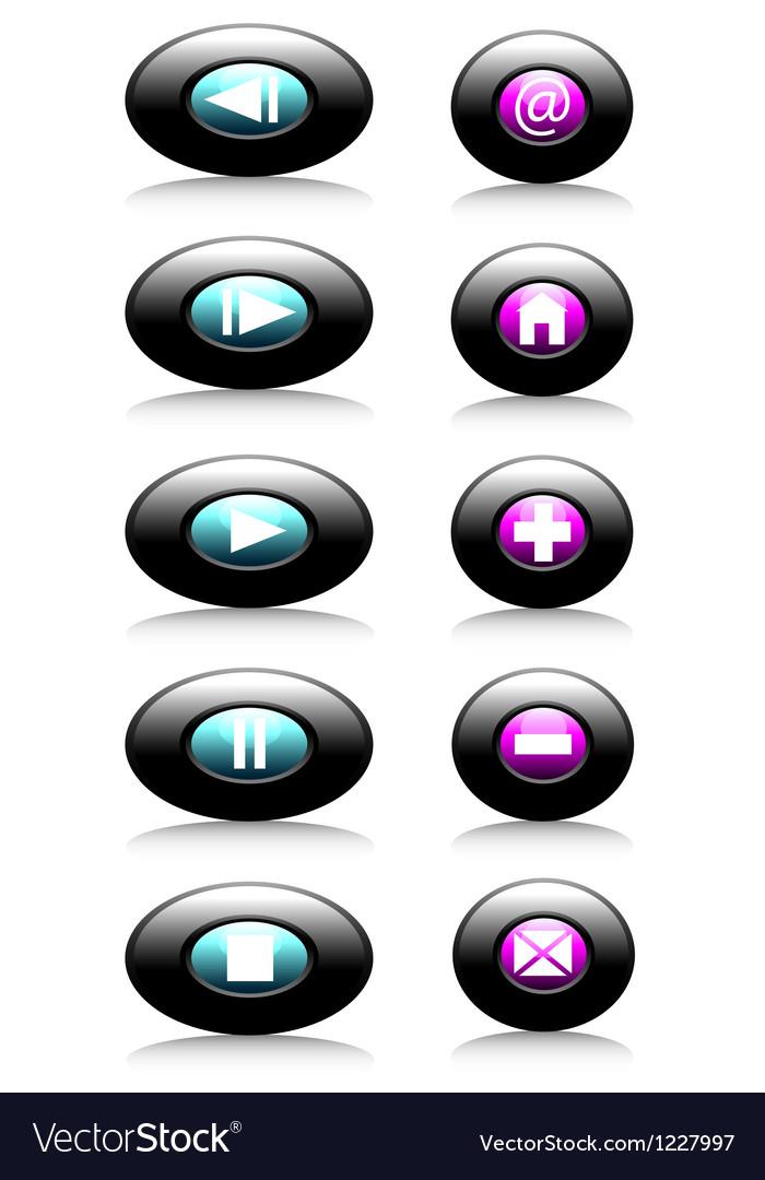 Web button vector | Price: 1 Credit (USD $1)