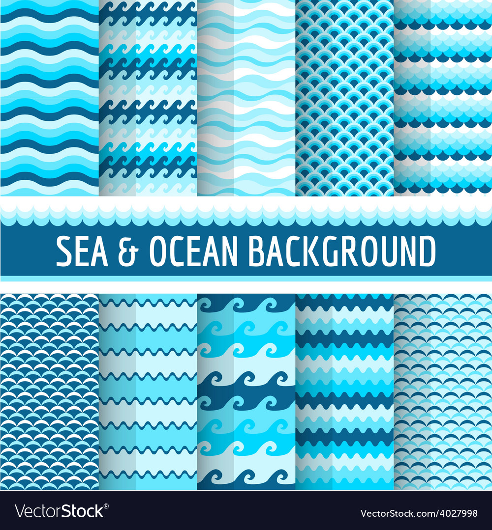 10 seamless nautical backgrounds vector | Price: 1 Credit (USD $1)