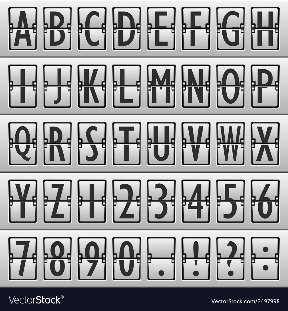 Alphabet board airport vector | Price: 1 Credit (USD $1)