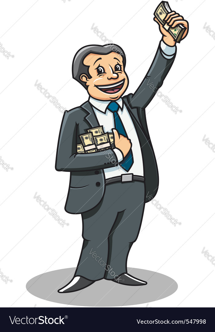 Cheerful businessman vector | Price: 1 Credit (USD $1)