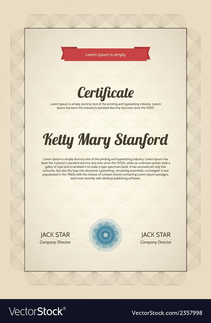 Multipurpose vertical certificate vector | Price: 1 Credit (USD $1)