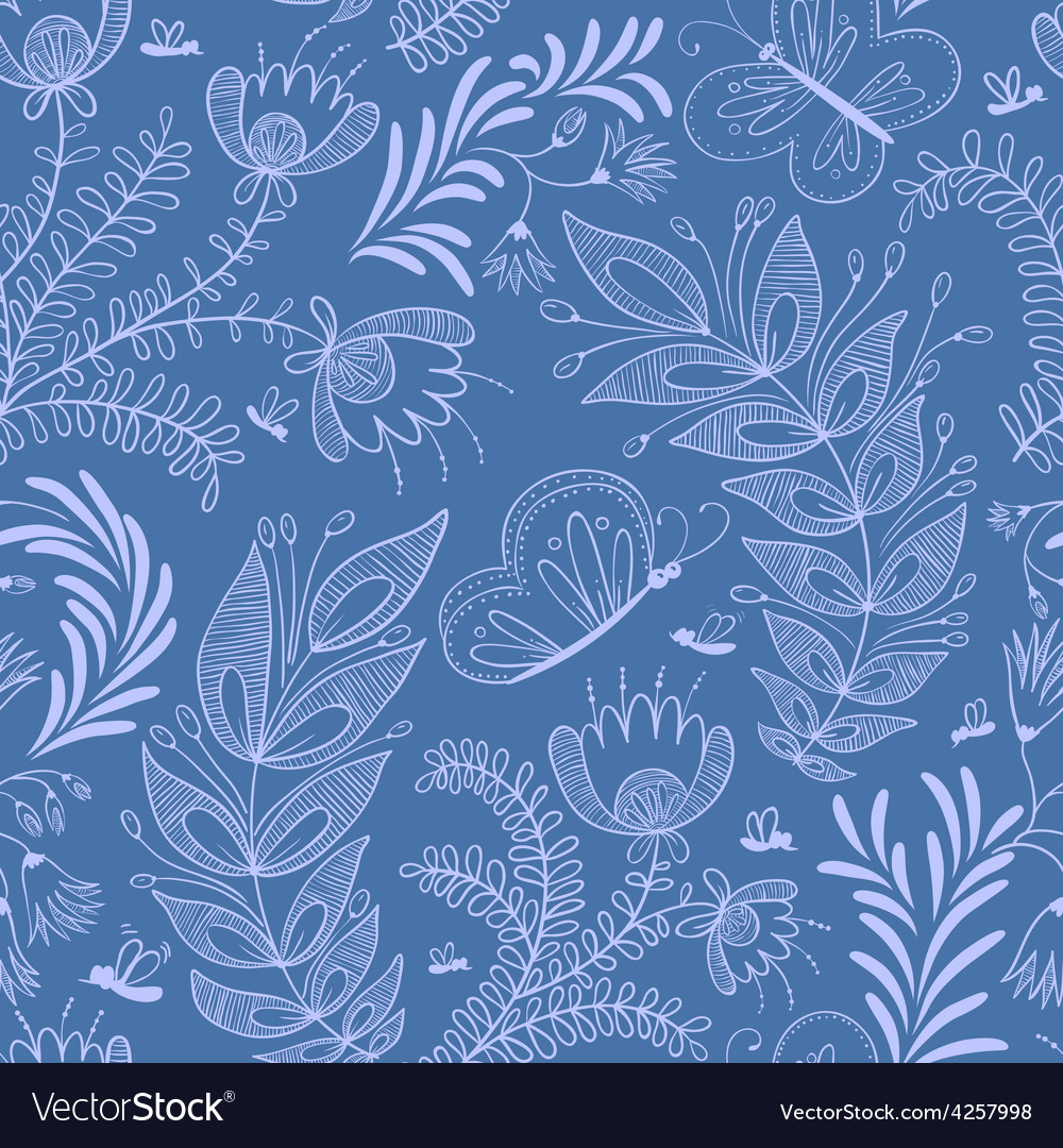 Pattern with butterfly vector | Price: 1 Credit (USD $1)