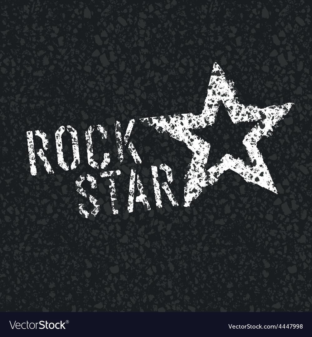 Rock star on asphalt vector | Price: 1 Credit (USD $1)