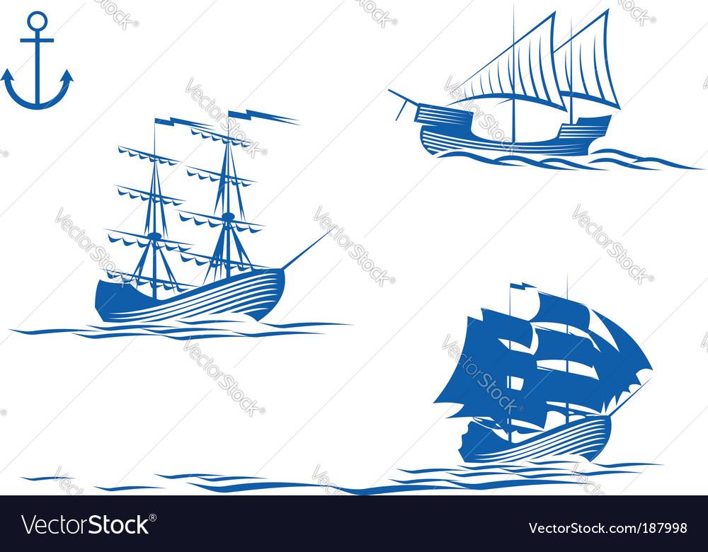 Sail ships vector | Price: 1 Credit (USD $1)