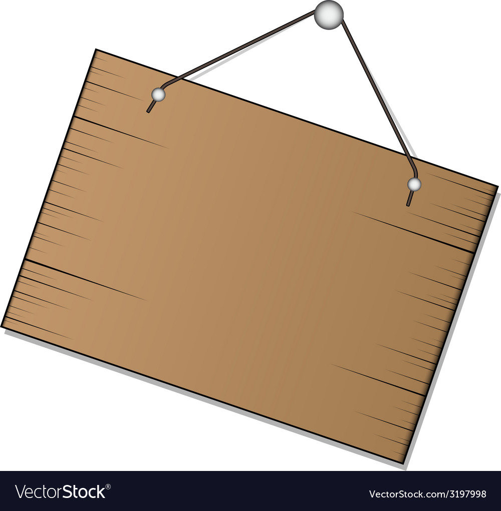 Wood sign hanging vector | Price: 1 Credit (USD $1)