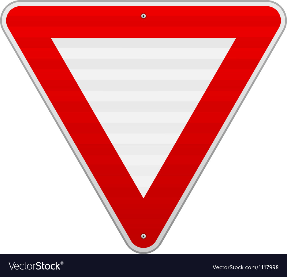 Yield triangle sign vector | Price: 1 Credit (USD $1)