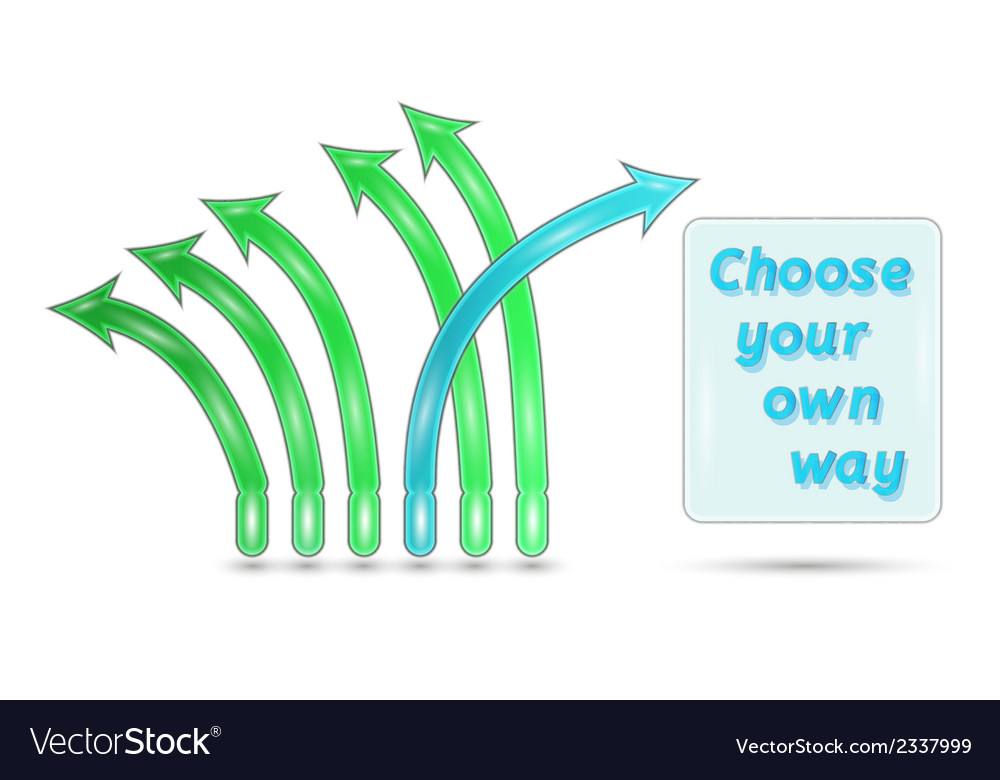 Choose your own way vector | Price: 1 Credit (USD $1)