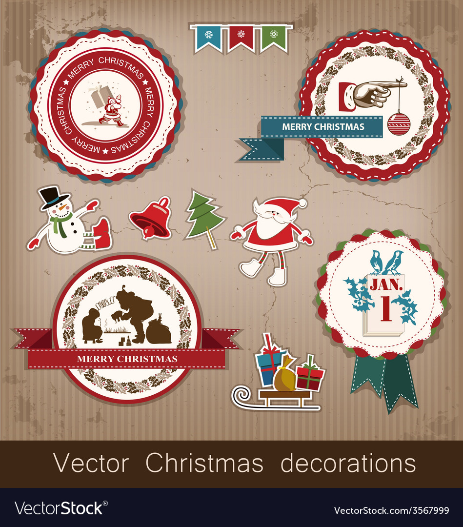 Christmas and new year vector | Price: 1 Credit (USD $1)