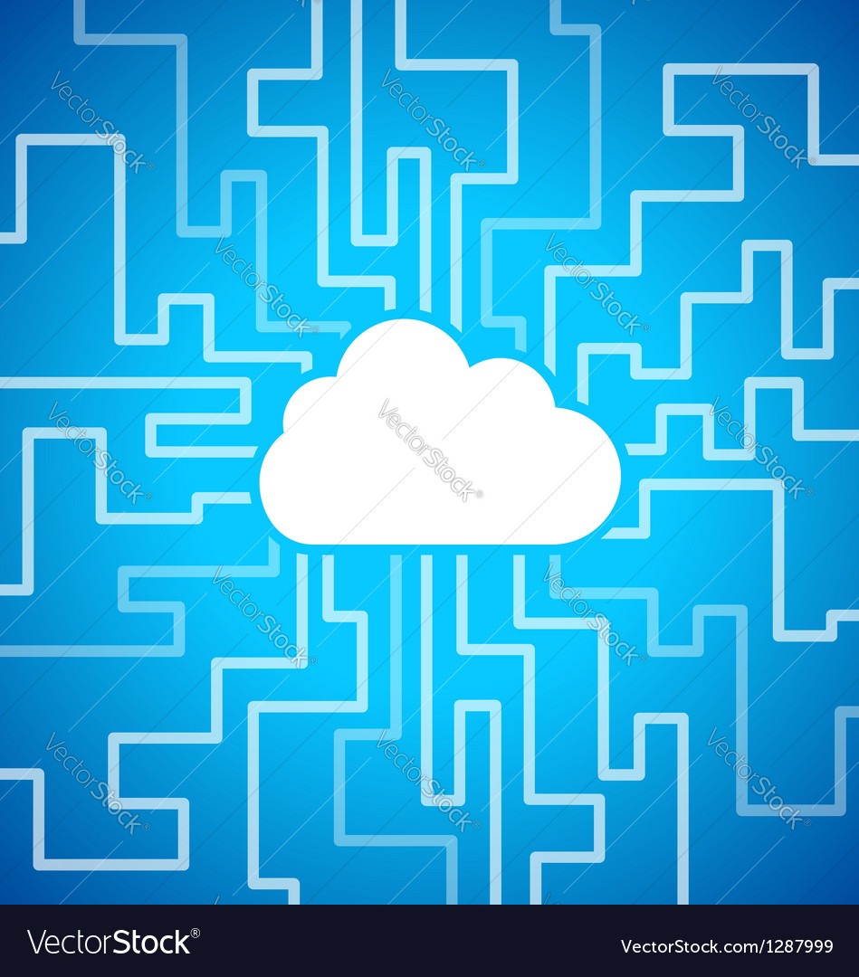 Cloud computing theme vector | Price: 1 Credit (USD $1)