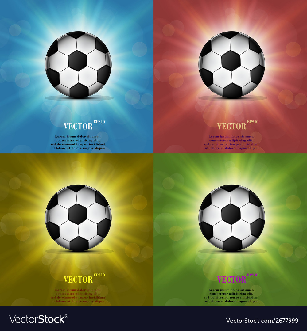 Color set soccer ball web icon flat design vector | Price: 1 Credit (USD $1)
