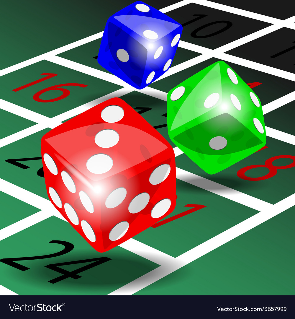 Colored dice vector | Price: 1 Credit (USD $1)