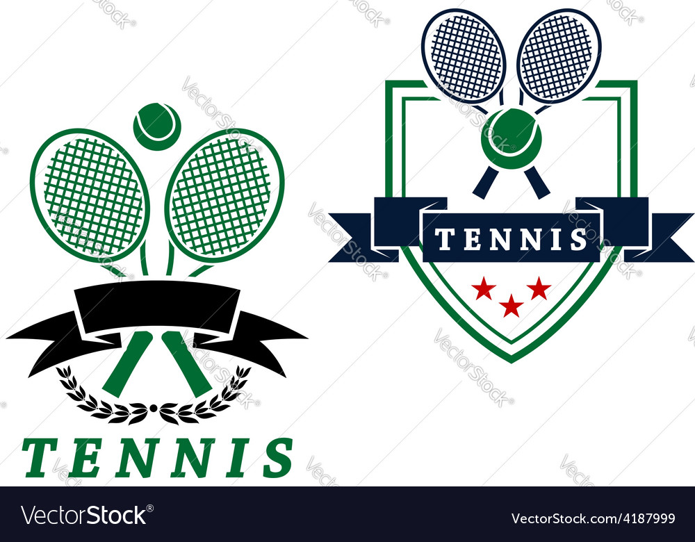 Heraldic tennis emblems or badges vector | Price: 1 Credit (USD $1)