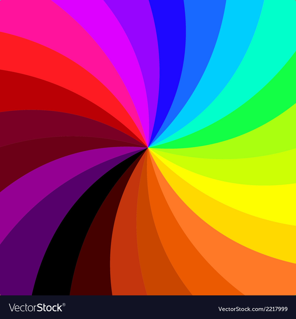 Retro spiral colorful background vector | Price: 1 Credit (USD $1)