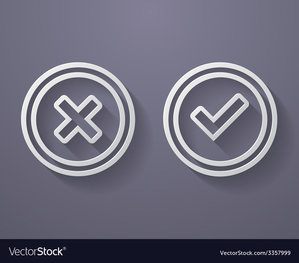 Set of check mark icons vector | Price: 1 Credit (USD $1)