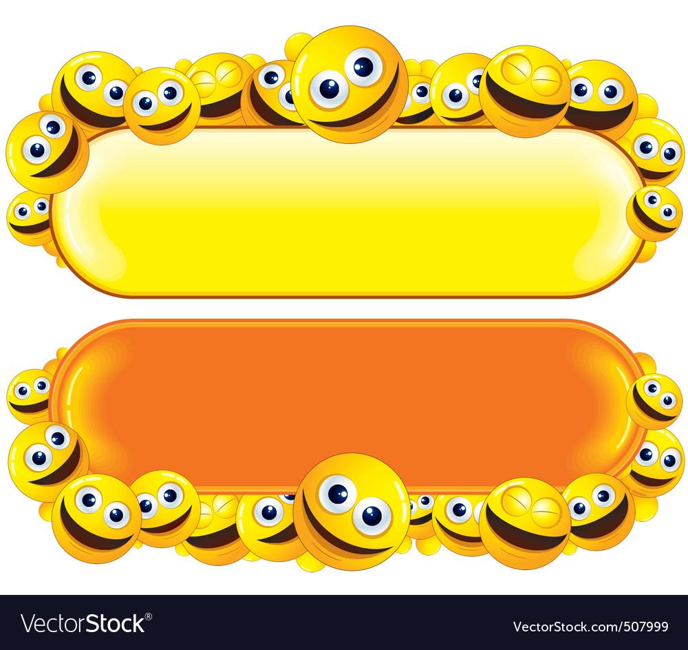 Smileys banners vector | Price: 1 Credit (USD $1)