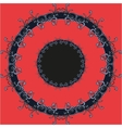 Pupil mandala red pattern round eye ornament vector