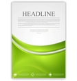 Abstract green wavy modern flyer design vector