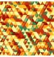 Retro abstract pattern with triangles vector