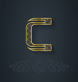 Letter c template for company logo with monogram vector