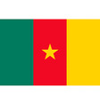 Cameroonian flag vector