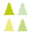 Abstract trees with reversed triangle on the top vector