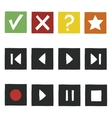 Simple hand draw game icons set vector