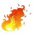 A big flame vector