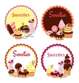 Sweet badges vector