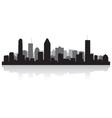 Montreal canada city skyline silhouette vector