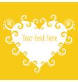 Sunny heart banner vector