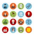 Law flat icons vector