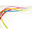 Bright abstract rainbow swoosh lines background vector