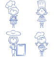Cartoon chefs vector