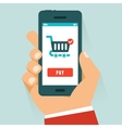 Mobile payment concept in flat style vector