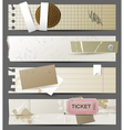 Horizontal paper banners vector