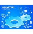 Bright gears on blue background for banner vector