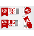 Sale card red promotion percentage retail vector