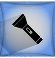 Flashlight  flat modern web button on a flat vector