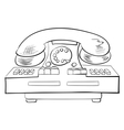 Old fashioned phone vector