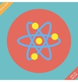Atomic symbol icon - vector