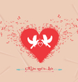 Valentines day music elements greeting card vector