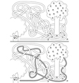 Squirrel maze vector