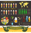 Beer infographics set elements for creating your vector