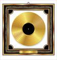 Gold vinyl disc award vector